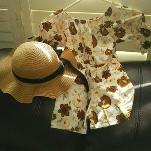 Girls romper with hat